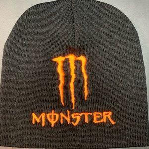 Other - New orange Monster Energy beanie skullcap